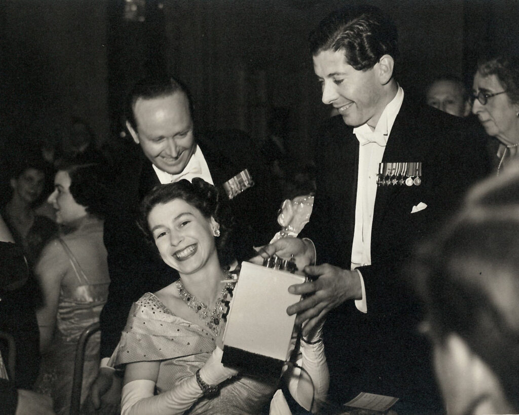 The Queen at the Flower Ball in 1952