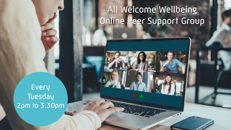 All Welcome Wellbeing BeWell@StepOne online peer support group