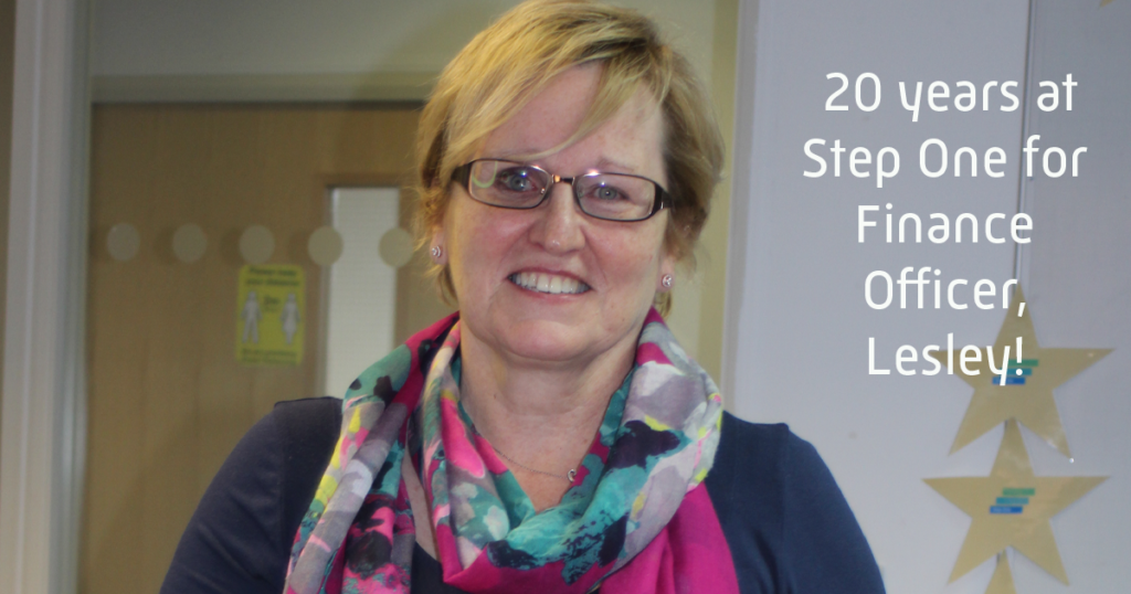 Finance officer, Lesley, celebrates 20 years at Step One
