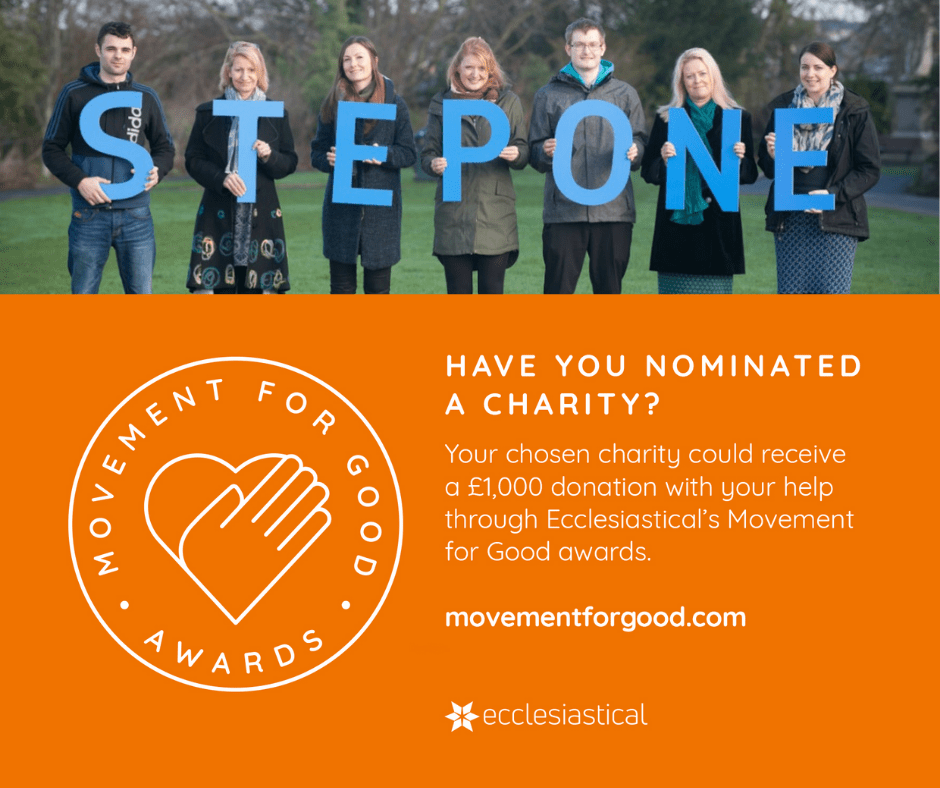 Nominate Step One Charity in the Movement for Good Awards 2021
